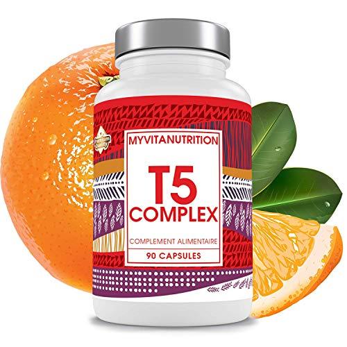 T5 Brûleur de Graisse - Cure de 1,5 Mois / 90 Comprimés - Pilules Amincissantes Ultra Puissante - Résultats garantis avec une ACTIVITE PHYSIQUE