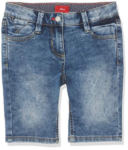 s.Oliver Mädchen 73.906.72.8964 Bermuda, Blau (Blue Denim Stretch 56z3), 164 (Herstellergröße: 164/REG) - Mädchen Bermuda Jean Short