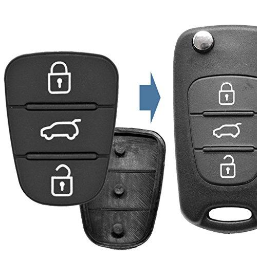 2X Auto Schlüssel Funk Fernbedienung Tastenfeld 3 Tasten für Hyundai/Kia