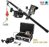 TQ 15M 25M HD Sea Rad Unterwasser-Fischvideo Kamera Kit 6W IR LED-Leuchten mit 4,3