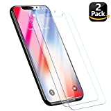 iPhone X/10 Tempered Glass,2 Pack Screen Protector for iPhone X 3D Touch Compatible,9H Hardness with Easy Install Kit, Case Friendly