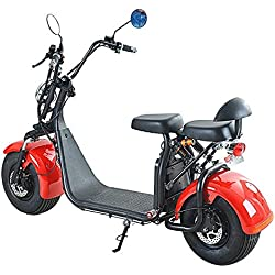 Scooter eléctrico de Citycoco, patinete eléctrico 1500W 60V de 2asientos