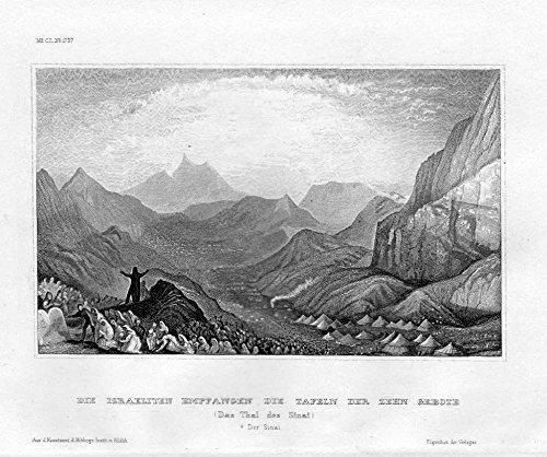 Sinai-Halbinsel Zehn Gebote Tafeln Ägypten Egypt Original Stahlstich