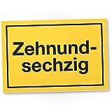 DankeDir! 70 Jahre - Zehnundsechzig, Kunststoff Schild - Geschenk 70. Geburtstag, Geschenkidee Geburtstagsgeschenk Siebzigsten, Geburtstagsdeko/Partydeko / Party Zubehör/Geburtstagskarte