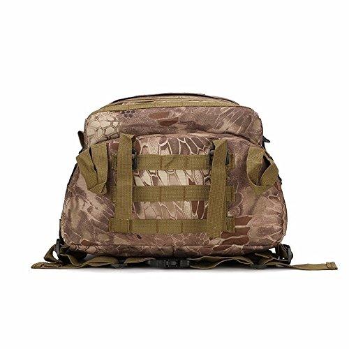 Impermeabile Alpinismo Oxford bag zainetto uomo doppia sacca borsa a tracolla camouflage outdoor sports zaino 46*33*18cm, python stria mud colour Colore di fango
