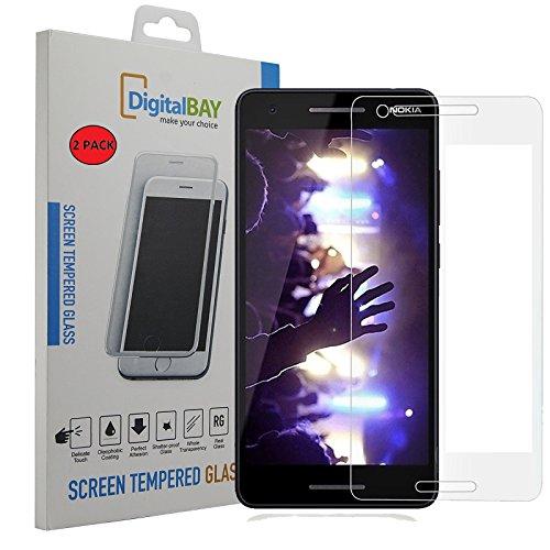 2 Pack Pellicola Vetro Temperato Nokia 2.1 Digital bay Protezione Antigraffi Resistente Pellicola Protettiva Protezione Protettore Glass Screen Protector per Nokia 2.1