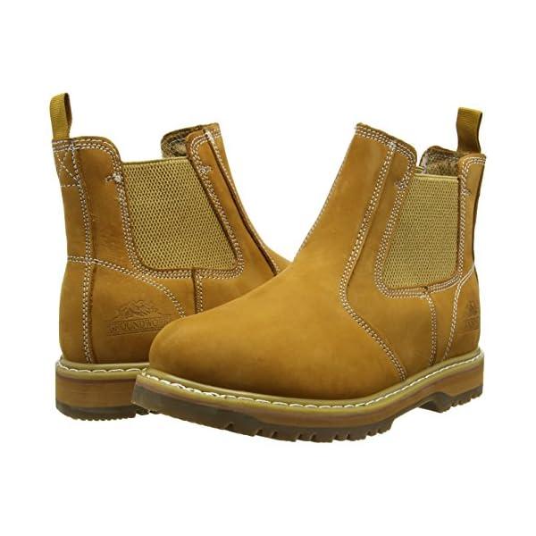 Zapatos de Seguridad de Cuero Hombre Groundwork GR20 N