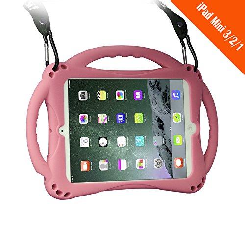 [Neues Design] TopEsct iPad Mini Case Kinder Anti-Shock Stoßfest Griff Ständer Schutzhülle für iPad Mini, Mini 2, Mini 3 und iPad Mini Retina Modelle (Rosa)