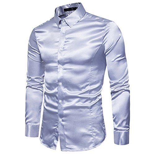 eeaf64d78e7 TUDUZ Men s Business Suit Wedding Casual Slim-Fit Long-Sleeved Shirt  Designer Italian Formal