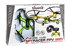 SilverLit 15606Immersion–Racer FPV Wifi Spy Drone with Camera for View–4Channel Gyro 2.4GHz from SILVERLIT
