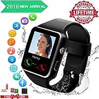 Smartwatch Android, Bluetooth Smart Watch Telefono Impermeabile Orologio Intelligente con Whatsapp SIM Card Fessura Fotocamera Chiamataper Per ios Samsung Huawei iPhone X XS XR 8 7 6 6s 5 Uomo Donna