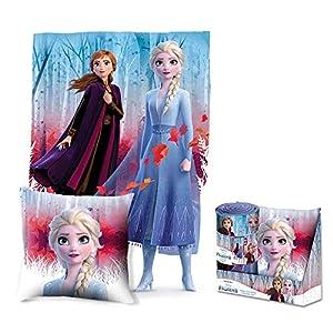 Frozen Set Kissen + Decke im Display 2 Referenz KD Heimtextilien Unisex Erwachsene Mehrfarbig (Mehrfarbig), Einheitsgröße