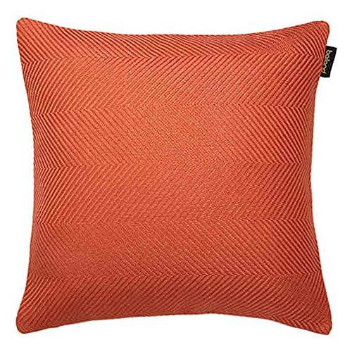 Unbekannt JXQ Hahnentritt Schwarzweiß Kissen Sofakissen Bürokissen Bett Rückenlehne Kissenbezug Kern Taille Kissen, 2 Größen (Color : Orange, Size : 50 * 50cm) -