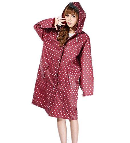 WENMW Gepolsterter Regenmantel Cute Girl Persönlichkeit Erwachsener Windbreaker Regenmantel, Wiederverwendbar, Tragbar, Faltbar (Farbe : Rot, Größe : One Size)