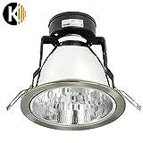 HAMMERPREIS! E27 Downlight Büroleuchte Deckenlampe Einbaulampe Spot Einbaurahmen 15W INNOX