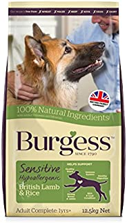 Burgess - Sensitive Adult Dog; British Lamb&Rice (12.