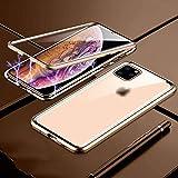 Telefon Fall, Doppelt-seitig Glas Magnetisch Schutz Abdeckung-for iPhone 11 pro max-Gold
