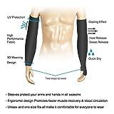 Prime Arm Sleeves For Sun Protection 1 Pair - Hand Gloves For Men/Women, 2 Pcs(Black)