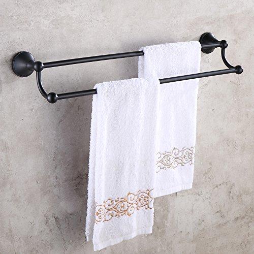 Weare Home Cool Schwarz Deko Badezimmer Zubehör Öl Bronze finished Alle Messing Einfach Doppel Handtuchstange Handtuchhalter (Bronze Doppel-handtuchhalter)