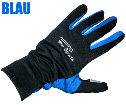 Laufhandschuhe Nordic Walking Handschuhe running gloves M L XL Jogging Gr. 8 - 9,5 (Blau, 9,5)