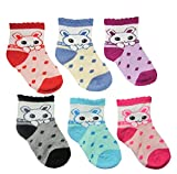 #2: KiddosCare Baby Boy/Girl Soft Touch Cotton Rich Socks in the Pack of 6 (Colour and Print may vary)