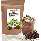 Plumes de Cacao brut biologique (en chocolar noir). Super-aliment de qualité riche en magnésium et protéines végétales. Sans gluten, idéal pour la cuisine et boissons énergétiques - 400gr