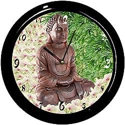 Cbkreation - Reloj redondo de péndulo, diseño con Buda
