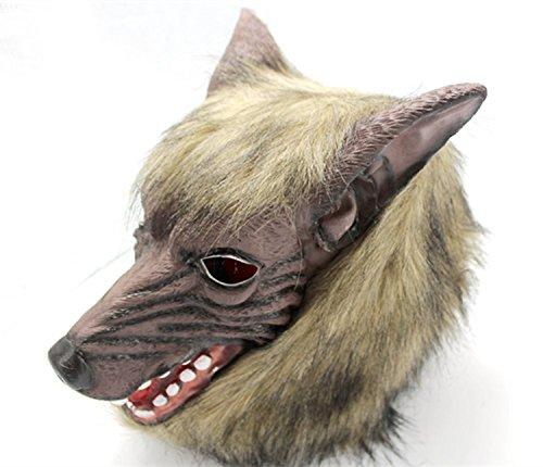 Silikon Wolfman M ¨ ¢ Scara für Halloween
