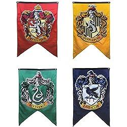Hogwarts Wizarding World Harry Potter juego completo de 4 Banner