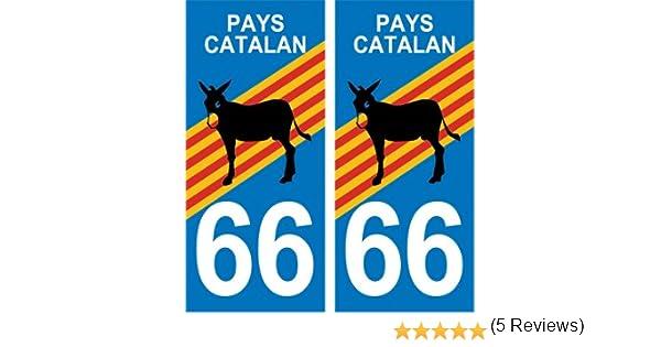 Automobilia Capable 2 Immatriculation 66 Pyrenees Orientales Catalan Catalunya Sticker Autocollant