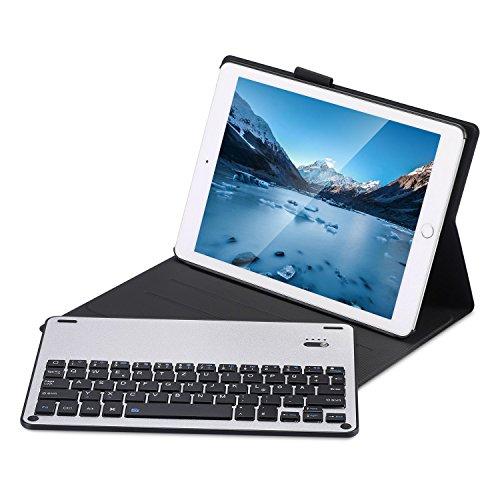 Tobeape iPad 9.7 Zoll 2018 2017 / iPad Air 2 / iPad Air Bluetooth Tastatur Hülle Keyboard Case - Ultradünn leicht SlimShell Ständer Schutzhülle mit magnetisch abnehmbarer drahtloser deutscher Bluetooth Tastatur für Apple iPad 9,7'' 2018 / 2017, iPad Air 1 / 2, Schwarz (Drahtlose Tastatur Stilvolle)