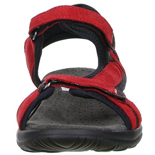 Vista Damen Trekking Wander Outdoorschuhe Sandalen rot/schwarz Rot