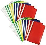 com-four® 20x Schnellhefter DIN A4 - Hefter mit Beschriftungsstreifen - Kunststoffhefter für Schule, Büro und zu Hause - PVC-frei (20 Stück - bunt)