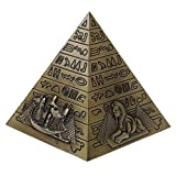 sgerste Ägyptische Landmark Metall Pyramiden Statue Home Decor Geschenk Tisch Regal Ornament Bronze