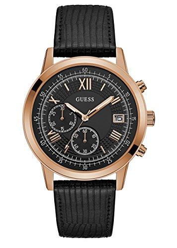 Guess Reloj Cronógrafo para Hombre de Cuarzo con Correa en Cuero W1000G4
