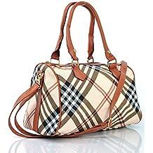 2d49890382 borsa borsetta bauletto spalla donna ragazza fantasia tracolla pelle media  grande shopping colorata quadretti scozia scozzese