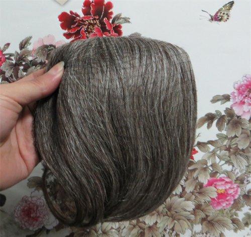 20,3 cm couleur : brun/blond (# 4/613) cheveux humains véritables cheveux Fashion avant Neat Bang franges One cheveux