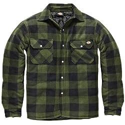 Dickies Holzfällerhemd Thermohemd Portland (grün/schwarz, XL)