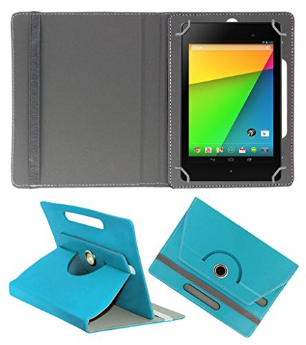 ACM ROTATING 360° LEATHER FLIP CASE FOR ASUS GOOGLE NEXUS 7 FHD 2013 TABLET STAND COVER HOLDER GREENISH BLUE  available at amazon for Rs.149
