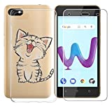 AQGG Coque Wiko Sunny 3 (5.0') Cover Crystal Souple Shell Housse Etui TPU+ Verre...