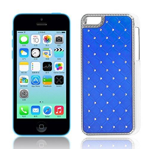Strass-Dekor stark Fall-Abdeckung Dunkelblau für Apple iPhone 5C (Iphone Strass 5c-fällen)
