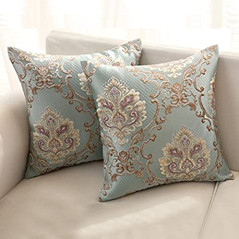 Upper-Sofa living room cushions washable satin throw pillow rectangular core-back bed linen not included,30*50cm + core, Blue