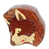 beltiscool Erwachsene Handarbeit Holz Secret Jewelry Puzzle Box – Hund Farbe: Walnuss One Size Walnuss