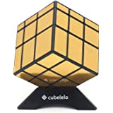 Cubelelo QiYi 3x3 Mirror Cube Golden Speed Cube Magic Cube Puzzle Toy