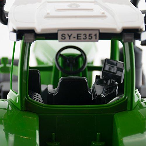RC Auto kaufen Traktor Bild 5: efaso E351-003 1:16 2,4 GHz RC Trecker mit Anhänger und Licht- und Soundeffekten - Komplett RTR*