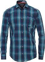 CasaModa - Herren Freizeit Karo Hemd langarm blau Casual-Fit