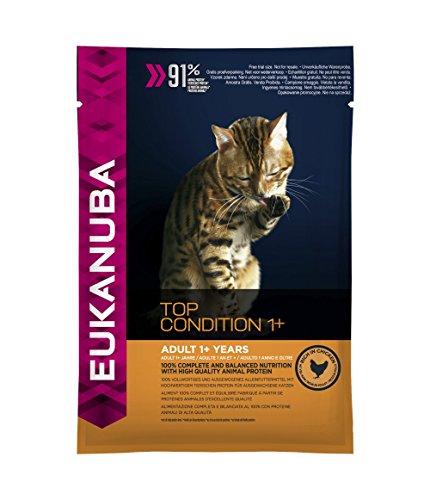 Eukanuba Katze Top Condition 1+, Trockenfutter für erwachsene Katzen, Probiergröße, Einzelbeutel, 100 g