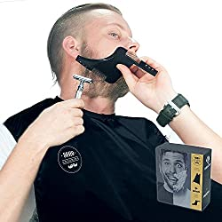 Beard Catcher Beard Shaper Comb + Bonus Beard Grooming Ebook,Easy Disposal,No Mess.