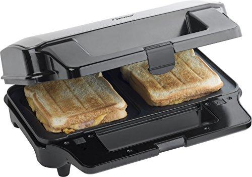 Bestron ASG90XXL 3in1 Gerät XL Sandwich Brüsseler Waffeln Kontaktgrill, 1350 W