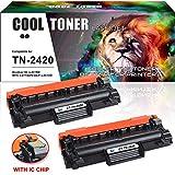 Cool Toner 2 Cartouche de Toner Compatible TN-2420 TN 2420 TN2420 TN-2410 (avec Puce) pour Brother HL-L2350DW L2310D L2375DW L2370DN MFC-L2710DN L2710DW L2730DW L2750DW DCP-L2510D L2530DW L2550DN